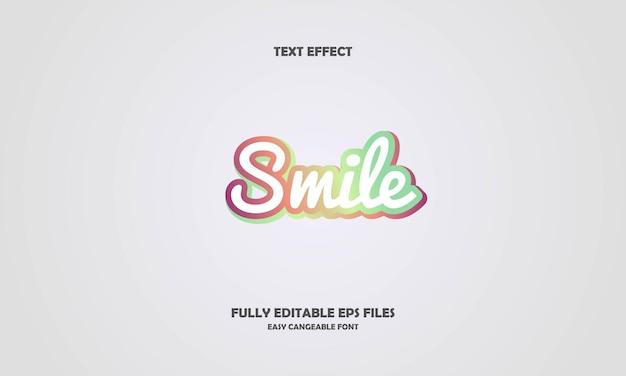 Glimlach teksteffect