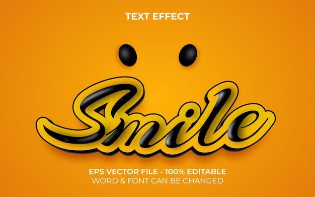 Glimlach teksteffectstijl bewerkbaar teksteffect