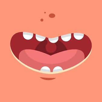Glimlach vector cartoon vlakke afbeelding.