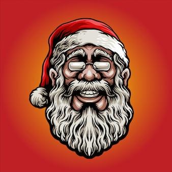 Glimlachende kerstman