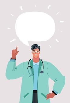 Glimlachende mannelijke arts