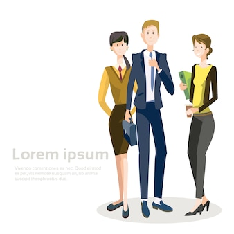Glimlachende zakenmensen groep teamsamenwerking samenwerking