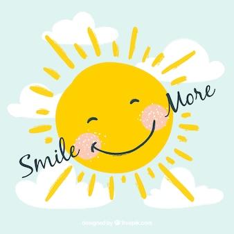 Glimlachende zon achtergrond