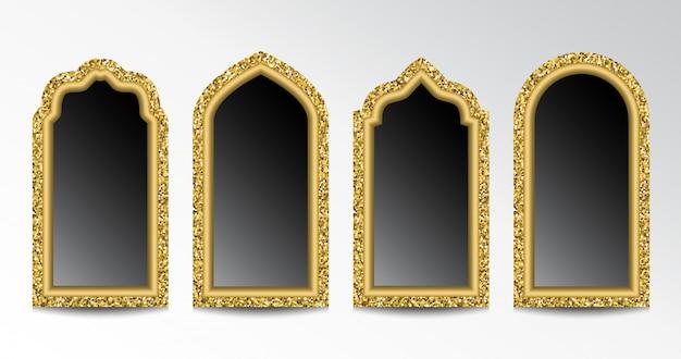 Glinsterende arabische ramen