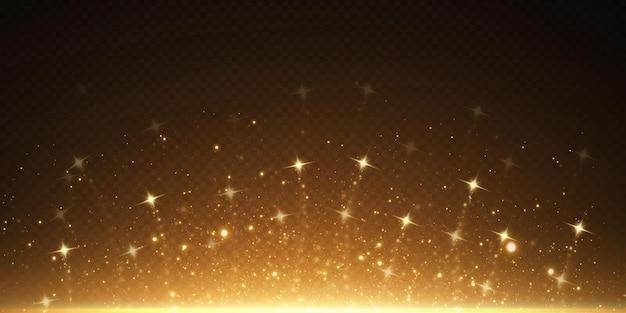 Glinsterende deeltjes van fairy dust magische concept abstracte achtergrond