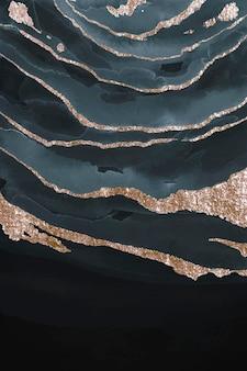 Glinsterende donkerblauwe aquarel achtergrond vector