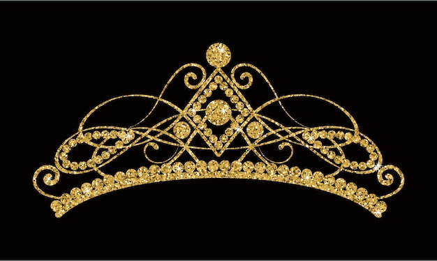 Glinsterende gouden tiara