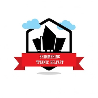 Glinsterende label titanic belfast ribbon