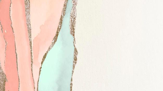 Glinsterende oranje en groene verf getextureerde achtergrond