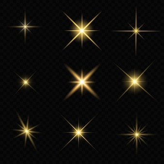 Glinsterende ster sprankelt