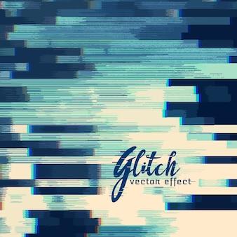 Glitch abstracte achtergrond in blauwe schaduw