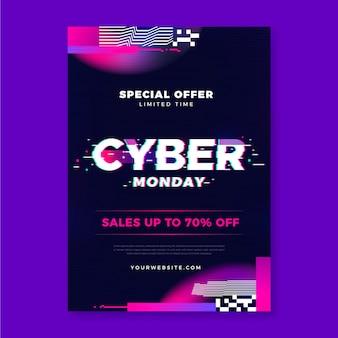 Glitch cyber maandag folder sjabloon