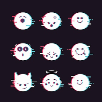 Glitch emoji-collecties