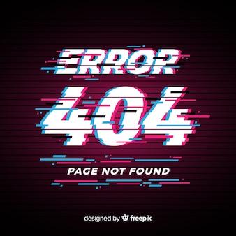 Glitch error 404 pagina achtergrond