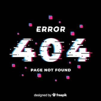 Glitch error 404-pagina