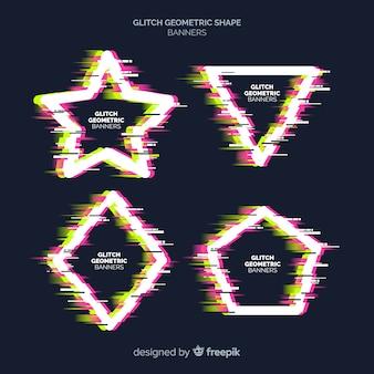 Glitch geometrische vormbanners
