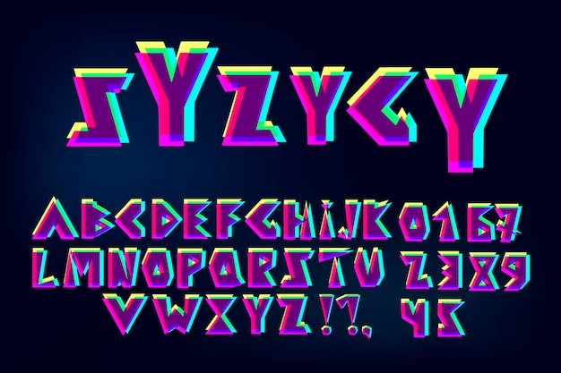 Glitch-lettertype