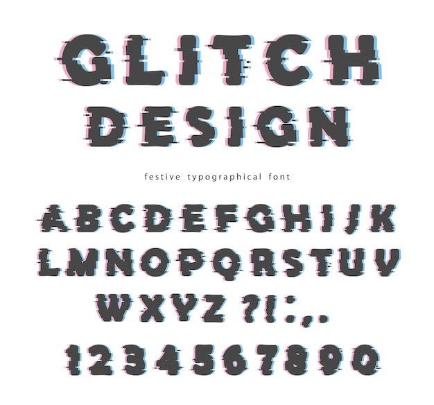 Glitch-lettertypeontwerp