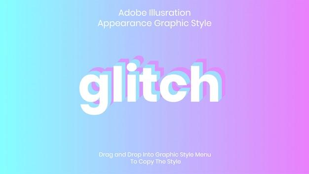 Glitch tekststijl effect sjabloon