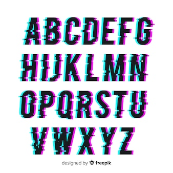 Glitch typografie