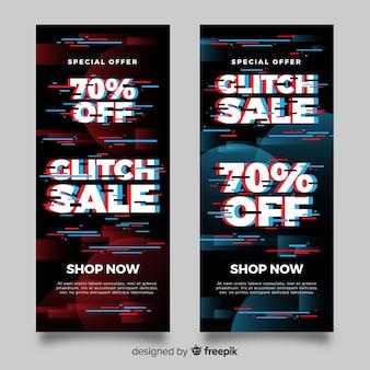 Glitch verkoop banners