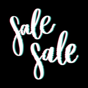 Glitched sale-belettering