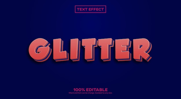 Glitter 3d-teksteffect