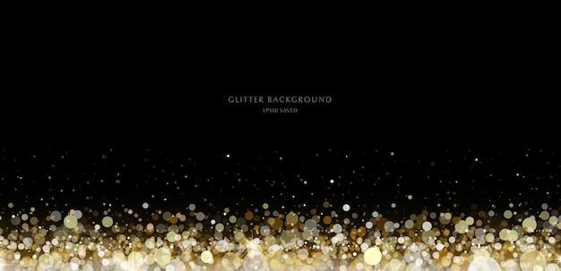 Glitter achtergrond luxe gouden stardust licht