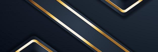 Glitter achtergrondlicht met abstracte kleur banner goud