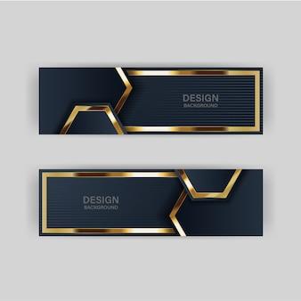 Glitter achtergrondlicht met abstracte kleur moderne technologie banner goud