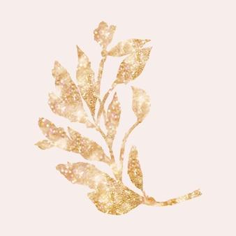 Glitter bladgoud ontwerpelement