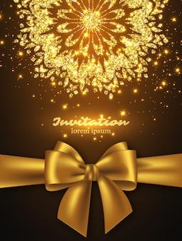 Glitter kaartontwerp voor begroeting of uitnodiging.