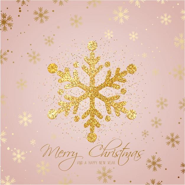 Glitter kerst sneeuwvlok achtergrond