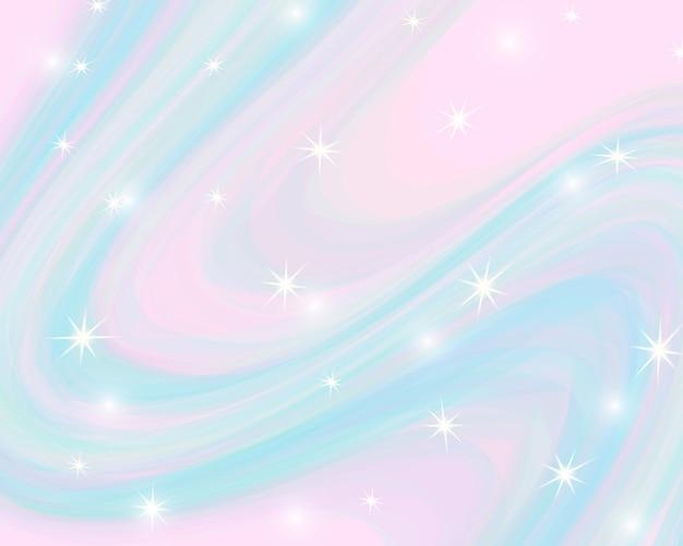 Glitter regenboog achtergrond. de lucht in pastelkleur.