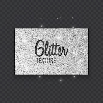 Glitterachtergrond met gloeiende lichten zilveren vonken op een wenskaart met zwarte achtergrond