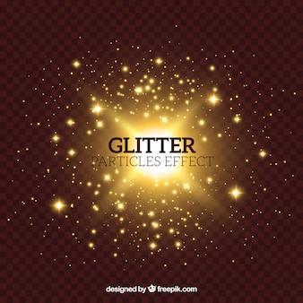 Glitterdeeltjeseffect