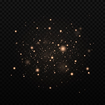 Glittereffect van deeltjes op zwart
