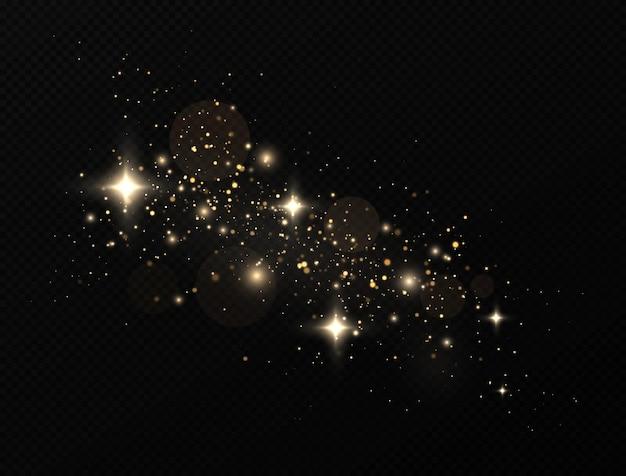 Glittereffect van deeltjes
