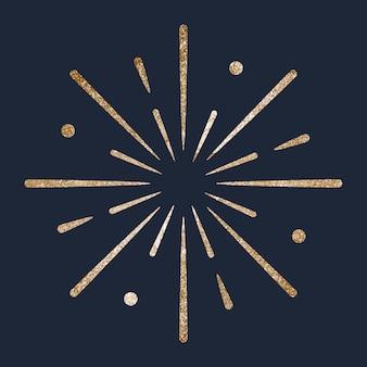 Glittery feestelijk gouden vuurwerk