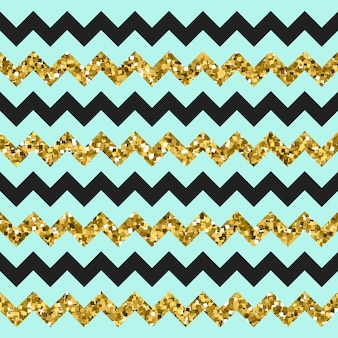 Glittery gouden chevron zigzag patroon