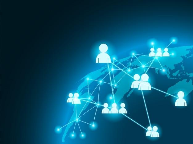 Globaal bedrijfsverbindingsconcept