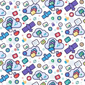 Globaal technologie naadloos patroon