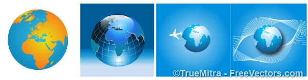 Global business icons set