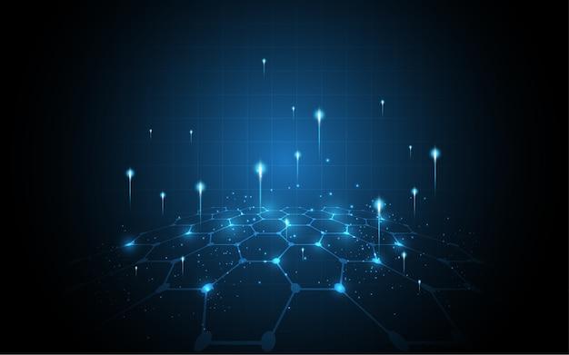 Globale abstracte de technologieachtergrond van de netwerkverbinding