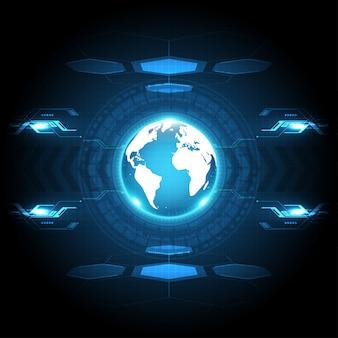 Globale abstracte technologie achtergrond communicatie concept futuristische digitale innovatie achtergrondillustratie