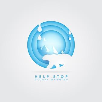 Globale opwarming logo