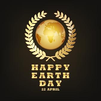 Globe earth voor 22 april. illustratie.