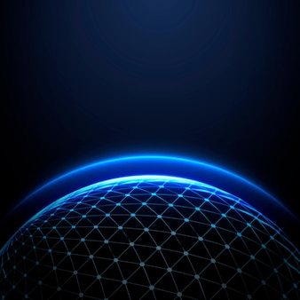 Globe gloeiende sfeer internationale zakelijke donkere achtergrond