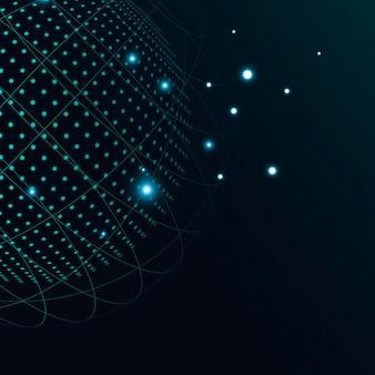 Globe grid technologie zakelijke achtergrond
