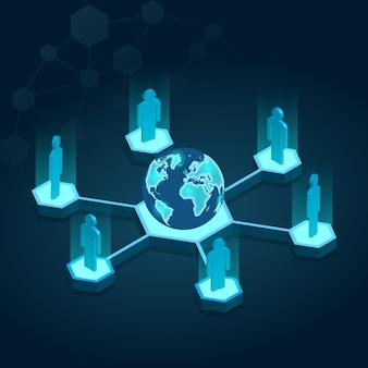 Globe isometrische verbinding